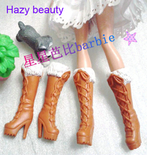 Hazy beauty different styles for choose Casual Boots High heel Dance Sports Ballet shoes for Barbie 1:6 Doll BBI00131(China)