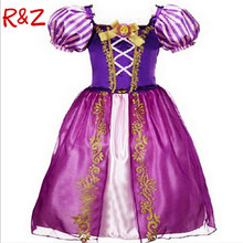 New Girls Cinderella Dresses Children Snow White Princess Dresses Rapunzel Aurora Kids Party Halloween Costume Clothes