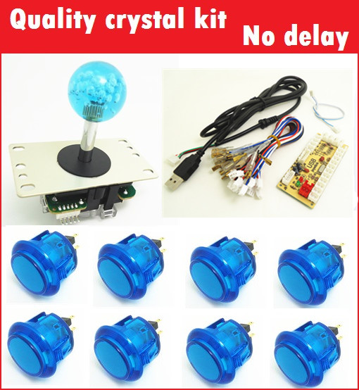 1 kit for PC controller with 35mm crystal top ball joystick and buttons  USB to Jamma arcade games, Multicade Keyboard Encoder<br>
