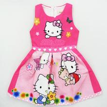 2017 Summer Hello Kitty Dresses for Girls Princess Birthday Party Dress Children Hello Kitty Costume Kids Clothes Vestido 3-10Y