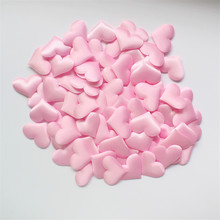 100Pcs/Set Sponge pink Heart Shaped Confetti Wedding Throwing Petals Romantic Wedding Decorations