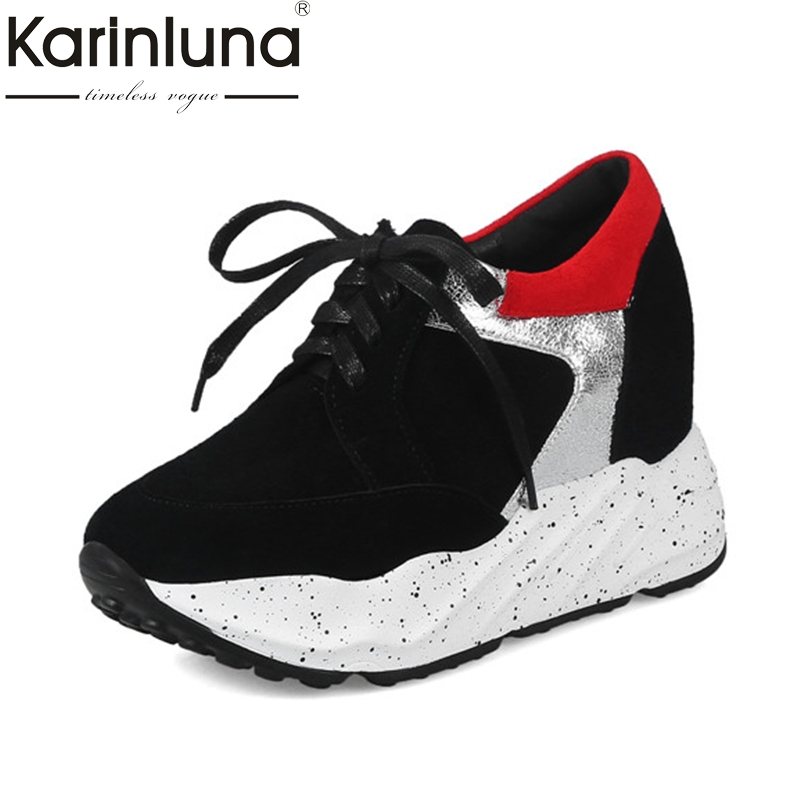 KarinLuna Womens Hidden 2018 sneaker casual women shoes Vintage Lace Up  Platform Shoes Woman Size 34-39<br>