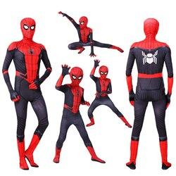 Новый детский костюм Человека-паука для взрослых, костюм Питера Паркера, костюм зентай для косплея, костюм Человека-паука, боди супергероя, ...