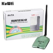 Alfa USB AWUS036NH Ralink3070L Chipset 2000mW Wireless N USB Wifi Adapter 150Mbps Wireless USB Wifi Network Card(China)