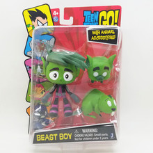 New Teen Titans GO 12cm action figure Beast Boy With Animals accessories high quality PVC Rare Collection child's gift