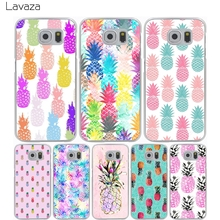 Lavaza pink pineapple Hard Transparent Cover Case for Samsung Galaxy S7 Edge S6 S8 Edge Plus S5 S4 S3 & Mini S2(China)