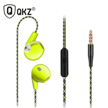 QKZ DM400 Earphone For iPhone 6 6S 5 5S Running Sport Headphones With Microphone 3.5mm Jack Bass Headset For apple Xiaomi Sport