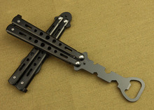 Practice Balisong Butterfly Trainer Dull Knife Style Beer Bottle Opener 1PCS