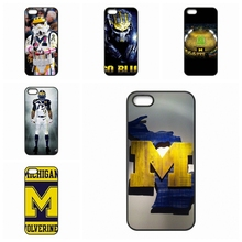 For Apple iPhone 4 4S 5 5C SE 6 6S Plus 4.7 5.5 iPod Touch 4 5 6 Michigan Wolverines Logo New accessories Hard Skin