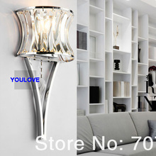 Modern Ice Fire Crystal Wall Lamps Nordic Crystal Wall Lights Fixture Home Indoor Lighting Bed Room Bed Side Parlor Torch Lights