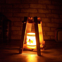 20*12*12cm Wooden Trapezoidal shape table Light Indoor Home Decoration Lamp Warm Night Light(China)