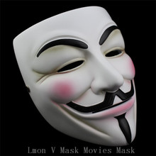 High Quality 100% Resin Movies V For Vendetta Mask Resin Collect Home Decor Party Cosplay Lenses Anonymous Mask Guy Fawkes Mask(China)