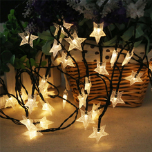 2017 Solar Energy 30 LED Window Yellow Curtain Lights String Lamp House Party Decor Striking Home Christmas Decor Drop Shipping(China)