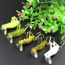 Cycle zone 5Pcs/Lot 3g 4cm Fishing Lures Artificial Locust Grasshopper Lures Insect Shape Hard Bait Set