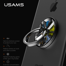 USAMS Gyro ring holder Light Finger Ring Mobile Smartphone telephone hand Stand Holder 360 degree Pop Universal Metal holder(China)