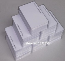 200pcs/box 125Khz White ID Inkjet printer PVC Card RFID Proximity smart Card With Serial Number