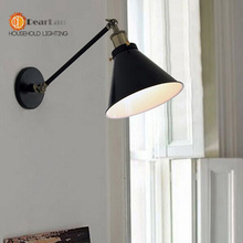 Vintage Black Single Section Wall Lamp  Vintage Wall Lamp Series item Modern Iron Wall Lamp Free Shipping