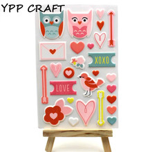 YPP CRAFT The Owl Self- adhesive Epoxy Sticker for Scrapbooking/ DIY Crafts/ Card Making Decoration