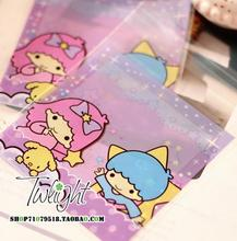 2 Size.Kawaii Cartoon Purple Clear Resealable Bags.Opp Bag Packing Plastic Bag Self Adhesive Seal.Gift Jewelry Storage bags