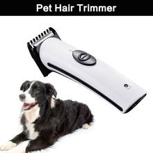 Rechargeable Cat Dog Hair Trimmer Electrical Pet Hair Clipper Remover Cutter Dog Grooming Pet Product Haircut Machine(China)