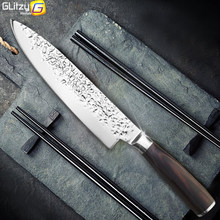 Kitchen Knife 8 inch Professional Chef Knives Japanese 7CR17 440C High Carbon Stainless Steel Meat Santoku Knife Pakka Wood(China)