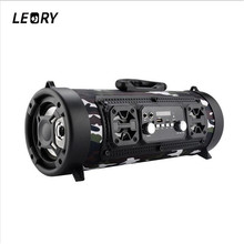 LEORY CH-M18 Individual Wireless Bluetooth Speaker Portable Surround Sound Radio Speaekr with Mic Outdoor Camping Biking Player