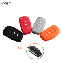 RIN 3Buttons Silicone Key Shell Case Cover For AUDI A1 A3 A4 A5 A6 A7 S3 S4 S5 S6 S7 S8 QS5 Q3 Q5 Q7 R8 TT TTS Car Styling