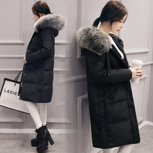 S M L XL 2XL Size 100% Real Duck Down Winter Women Jackets Fashion Korea Style Long Knee Thickening Outerwear Coats Black Gray