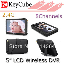 2.4G 5 inch HD Wireless Mini Portable DVR 2.4Ghz Receiver  Monitor for wireless & wired camera motion detect recording up to 32G