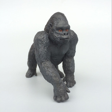 Simulation animal model of West African lowland gorilla chimp ape King Kong 1pc child toys anime action figure