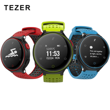 TEZER R22 swim blood pressure blood oxygen heart rate bicycle basketball ping pong climbing Football sport smart wrist watch(China)