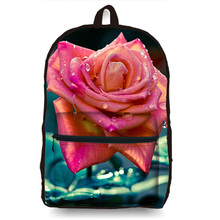 Women 3D Floral Casual Canvans Backpack Stylish Backpacks Girls Campus School Rucksuck Backbag Mochila Feminina Large Capacity(China)