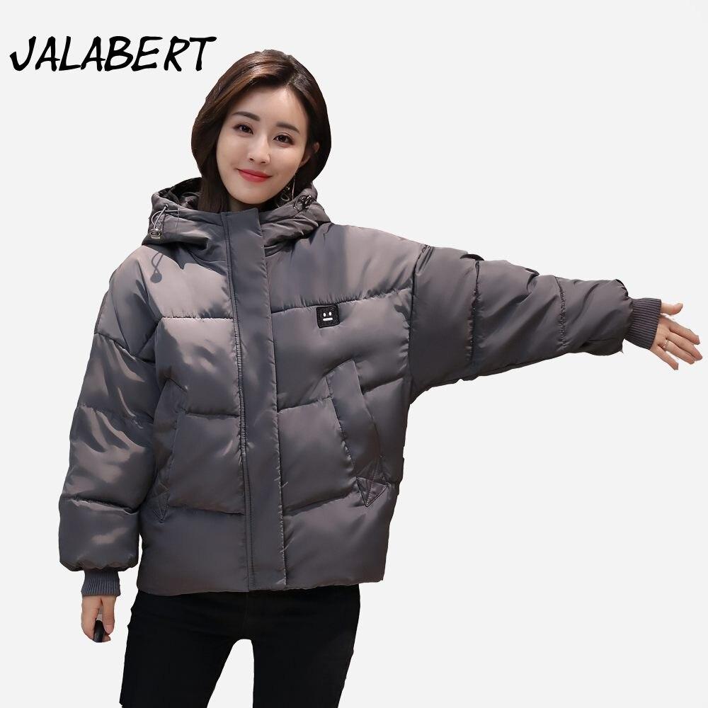 2017 New winter women short thick cotton Hooded jacket Female fashion warm letter pattern coat Loose Parkas Îäåæäà è àêñåññóàðû<br><br>