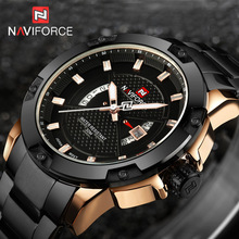 Buy NAVIFORCE Watches Men Brand Luxury Full Steel Army Military Watches Men's Quartz Hour Clock Man Watch Sports Wrist Watch relogio for $17.99 in AliExpress store