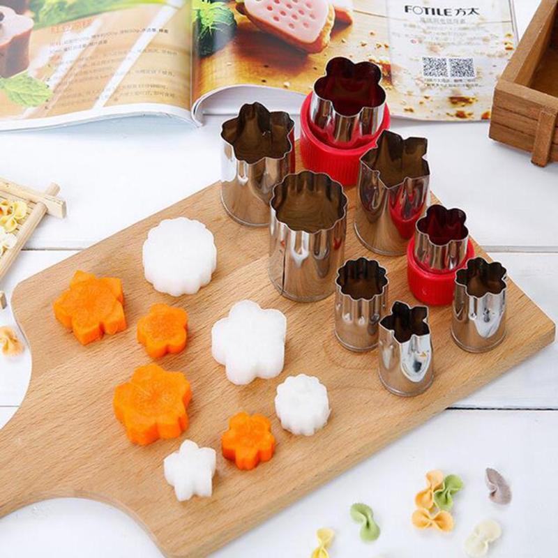 8 шт. овощерезки формы набор резак для печенья цветок для детей формы угощения еда прессформа для резки фруктов