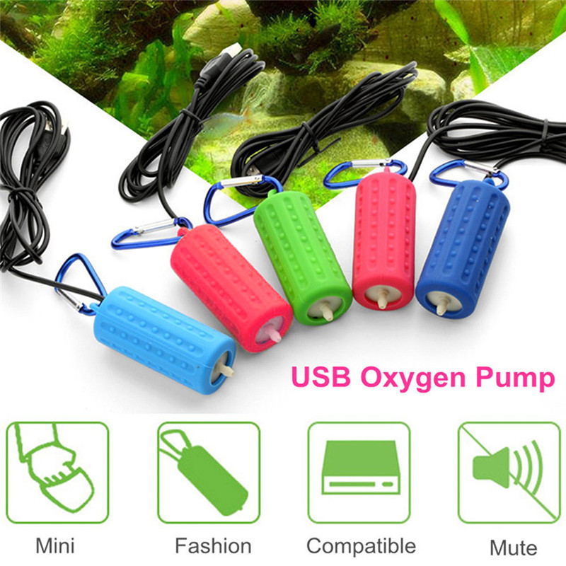 Aquarium Air Pump Portable Mini USB Oxygen Air Pump Mute Energy Saving Supplies Aquatic Terrarium Fish Tank Accessories 04