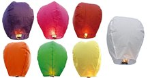 SKY LANTERNS Chinese Paper Sky Flying Balloons For Wedding/Anniversary/Party/Valentine