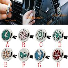 Stainless Vent Freshener Essential Oil Diffuser Locket Decor car air freshener car perfume car-styling perfumes 100 originais(China)