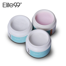 Elite99 Acrylic Powder For Nail Extension Tips False Nail Art Builder Tip Crystal Dust 1 Bottle Clear Pink White For Chosen(China)