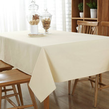 Kalameng 8 Size Solid Color Home Decor Linen Cotton Tablecloth Rectangle Dustproof Table Cover Grey,Coffee,Sky blue,Beige,Green