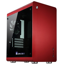 Computer case RM3 Red HTPC USB3.0 Support Big power supply Home media Aluminum Chassis(China)