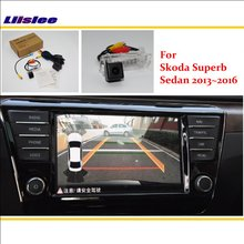 Liislee For Skoda Superb Sedan 2013~2016 RCA & Original Screen Compatible Rear View Camera / Back Up Reverse Parking Camera
