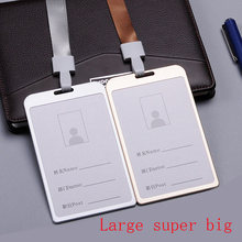 Cover card aluminum alloy job card,id badges,hang rope,can hang can clamp,double-sided visual,Staff,work,badge holder brand #GYD