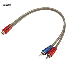 LEORY Brand New RCA Phone Y Splitter 33.5CM RCA Female To 2x Male Cable Audio Lead Adapter Connector