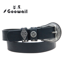 Goowail 2017 new arrive fashion  western belt for women Metal Buckle for ladies jeans or dress accessories