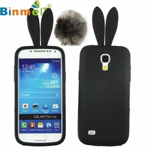 Cute Silicon Rabbit Stand Holder Soft Case Cover Skin For Samsung Galaxy S4 Mini I9190 TOP QUALITY Sep10
