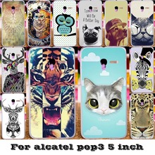 Soft Solicon TPU&Plastic Covers Cases For Alcatel OneTouch Pop 3 5015D 5 inch 3G Version One Touch Pop 3 5015 5016A Cases cover