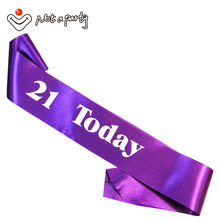 6Pcs Fun 21 today adult ceremony birthday party sash souvenir gift 18 21 30 40 50 60 invitations event party supplies(China)