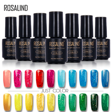 ROSALIND 7ML Color Diamond Series Glitter Nail Gel Polish UV Nail Art LED Soak-Off Gel Nail Polish Base Top Coat Platinum