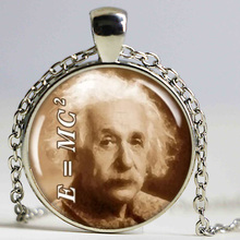 Einstein Picture Pendant Charm Theory Of Relativity Science Pendant Quantum Physics Geek Jewelry Sepia(China)